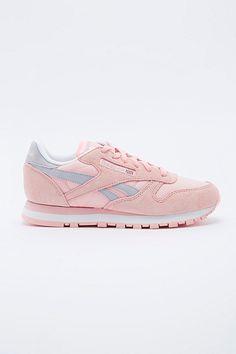 Soft pink Leathernecks Sneakers- I spy spring Trend 2015! Reebok Klassische Sneaker aus Leder in Rosa
