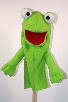 Frog Hand Puppet Pattern with Movable Mouth