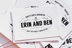 Engagement Party Wedding Stickers from June Mango Design Boutique | junemango.com/blog