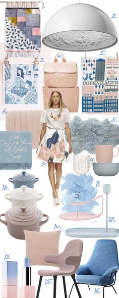 Pantone Color Of The Year 2016: Rose Quartz & Serenity - Pinspiration