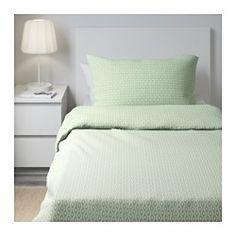 IKEA - RÖDVED, Capa de edredão e fronha, 150x200/50x60 cm, , Mistura de poliéster/algodão para que o tecido seja mais fácil de cuidar, evitando que enrugue ou encolha.