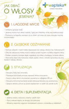 Jak dbać o włosy jesienią  wapteka-wlosy-infografika