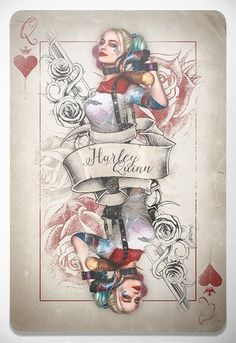 'Harley Quinn, Queen Of Bloody Hearts' by Laura Racero