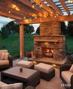 "After they saw a spectacular outdoor fire place at a neighbor's home, this family knew they had to have Land Design Group (LDG) design and install one in their Overland Park backyard. ""The homeowners love to crackle the fire and wanted a wood burning fireplace and dining area, along with a pergola,"" noted Chris Feldkamp, owner of LDG, whose team went to work on constructing this fully custom-made rugged yet stylish design that encourages lots of family time for nearly year-round usage."