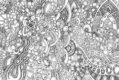 free coloring page adults very intricate