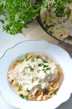 kurczak carbonara w sosie śmietanowym Tortellini, Risotto, Mashed Potatoes, Food And Drink, Eggs, Tasty, Chicken, Cooking, Breakfast