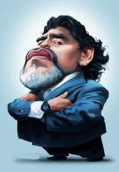 Diego Maradona by André Bethlem Cartoon Faces, Funny Faces, Cartoon Drawings, Cartoon Art, Cartoon Characters, Sports Action Photography, Aerial Photography, Micro Photography, Modeling Photography