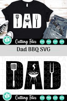 Dad BBQ - A Family SVG Cut File Compatible with vinyl cutting machines such as Cricut and Silhouette Cameo. Great for DIY craft projects such as shirts, mugs, tumblers, and more. Funny Dad Shirts, Father's Day T Shirts, Dad To Be Shirts, Diy Father's Day Gifts, Father's Day Diy, Gifts For Dad, Fathers Day Crafts, Happy Fathers Day, Funny Fathers Day Gifts