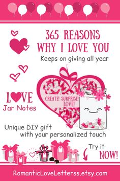 "This printable DIY kit of ""365 Reasons Why I Love You"" mini note cards will help you create an amazing personalized gift for men (Paper anniversary gift for him, long distance relationship gift for boyfriend)! Please visit our website to buy it now! #lovenotes #reasonsiloveyou #whyiloveyou #romanticgifts #sentimentalgifts #giftsforboyfriend #DIYgifts #romanticloveletterss Sentimental Gifts For Men, Thoughtful Gifts For Him, Romantic Gifts For Him, Personalised Gifts For Him, Meaningful Gifts, Diy Gifts For Friends, Diy Gifts For Boyfriend, Boyfriend Ideas, Anniversary Gifts For Husband"