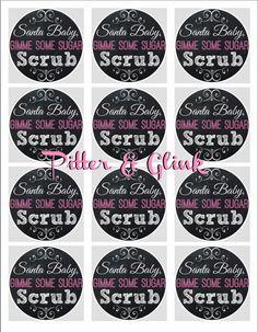 Three Ingredient Sugar Scrub Labels www.Pitterandglink.blogspot.com