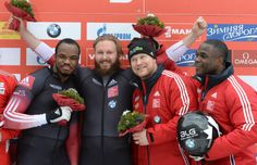 Canadian Bryan Barnett, Justin Kripps, Lyndon Rush First World Cup, Bobsleigh, Two Men, Dream Team, Olympics, Athlete, Canada, Colours, American