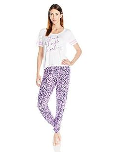 fcf3513390 Juicy Couture Black Label Women s Night Tee and Jogger Gift Set  Sleep in  style in this super soft pajama set from juicy couture. Leopard print  perfect for ...
