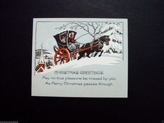 Amazing card from the early Used card, NO envelope. All card sales are final. Christmas Greetings, Merry Christmas, Christmas Horses, Xmas Greeting Cards, Horse Drawn, Hand Coloring, Ebay, Vintage, Merry Little Christmas