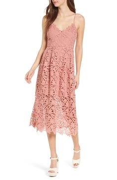 Free shipping and returns on ASTR the Label Lace Midi Dress at Nordstrom.com. Sweet, playful and party-ready, this lace midi-length dress has slender straps and an airy silhouette that's perfect for twirling in the sun.