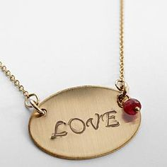 Ruby love necklace.