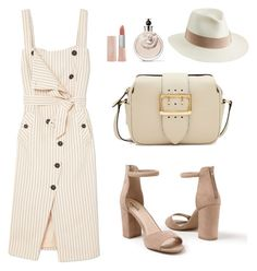 """""""polo day"""" by fashionloverv ❤ liked on Polyvore featuring Altuzarra, Venus, Burberry, Maybelline, Valentino and Helen Kaminski"""