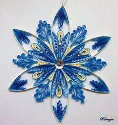 Quilled snowflake by pinterzsu.deviantart.com on @deviantART