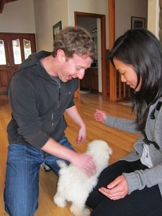 Community Post: 15 Photos Of Mark Zuckerberg's Adorable Dog