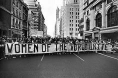 amalgameheteroclite: Bob Adelman - Marche pour les droits des femmes, 5e Avenue, New York City, 1970.