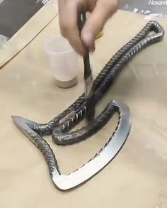 How to Make an Axe from Rebar DIY re-bar project! Industrial door handle for craft supplies and tools Modern loft pull for home improvement Steel hand Check the webpage to learn Green Dinner & Meeting Epoxy Table - With Led Lighting E Z Battery Reconditio