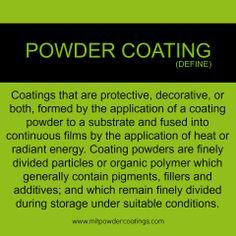 Definition of Powder Coating. What is Powder Coating? #powdercoat #MITPowder