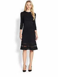 Elie Tahari Sasha Long-Sleeve Dress