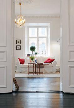 White on white on white ... with dark floors .