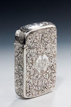 SUPERB SILVER CIGAR CASE  Richard Gardner Antiques