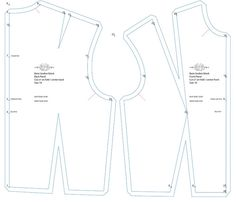 Free sloper patterns -- use these as a starting point to sew your own clothing patterns or dressform cover
