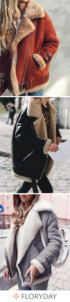 Long Sleeve Lapel Zipper Pockets Coats, long sleeve, casual, coats, fashion coats, fall, lapel coats, zipper coats, pockets, autumn, new style, outfits.