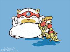 Samurai Pizza Cat T-Shirt - http://teecraze.com/samurai-pizza-cat-t-shirt-2/ -  Designed by Ready2Rumbl