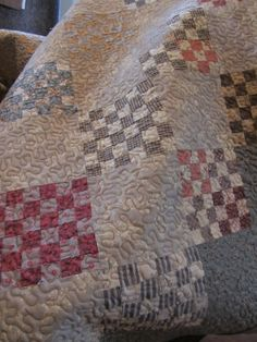 Love Country Sampler's soft color quilts.