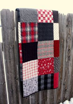 Plaid Patchwork Quilt Patchwork Plaid Baby Bedding Black And Red Plaid Flannel Quilt American Traditions Plaid Patchwork Quilt Set Flannel Quilts, Plaid Quilt, Plaid Flannel, Red Plaid, Flannel Blanket, Fall Plaid, Plaid Shirts, Plaid Christmas, Flannel Shirt