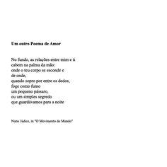Poema de Nuno Júdice - Um outro poema de amor