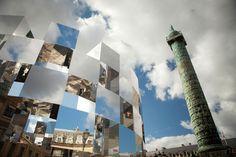 'Ring' Mirror Installation by Arnaud Lapierre @Tonya Place Vendôme, Paris