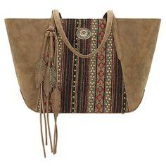 Bandana Handbag Serape Collection: Autumn Leaves Tote Bag