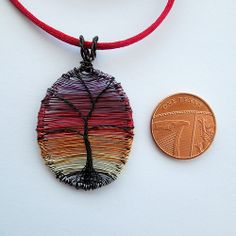 Sunset Tree mini pendant