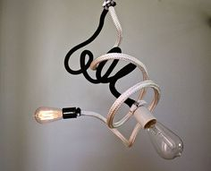 Bare Bulb Bendable Pendant Light Fixture Black Hanging Nautical Rope Industrial Modern Kitchen Dining Kid's Bedroom PLUG IN-MySecretLite