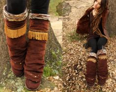 Woodland Winter Stulpen Hippie tribal von Janajati auf Etsy