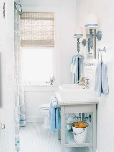 potting shed with low shelf and front towel bar