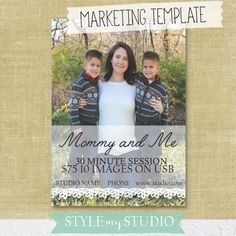 Mini Session Template / Photography Template / Photo Template / Mommy and Me Session  Images courtesy of AshleyTuckerPhotography