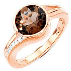Damen-Ring 1 Rauchquarz 14 Karat (585) Rotgold 5 Diamant 0.04 ct. 60 (19.1) Dreambase, http://www.amazon.de/dp/B00ANOXFFK/ref=cm_sw_r_pi_dp_rvXNsb1D2GJB0