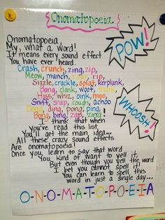 Onomonopoeia Anchor Chart - Internet Beside Follower
