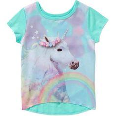 Garanimals Baby Toddler Girl Short Sleeve Satin Graphic Tee Shirt, Size: 3 Years, Green