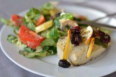 Gebackener Tofu mit Cranberries und Basilikum
