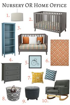 This is a great post on how to put together a nursery with items you'll love even when the baby gets older.