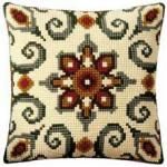 Geometric 10 Cushion Front Cross Stitch Kit by Vervaco
