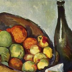 Paul Cezanne  Basket of Apples - detail Oil on canvas 1895  #cezanne #paintings #art