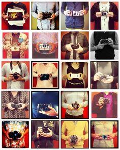 20 membres de l'équipe Blurb et leurs appareils photos.