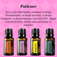 Wonderful Essential Oil Tips And Techniques For essential oil blends roller Essential Oils 101, Essential Oil Diffuser Blends, Doterra Oils, Doterra Blends, Aromatherapy Oils, Osho, Remedies, Rollers, Patience